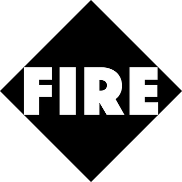 Fire logo edge to edge