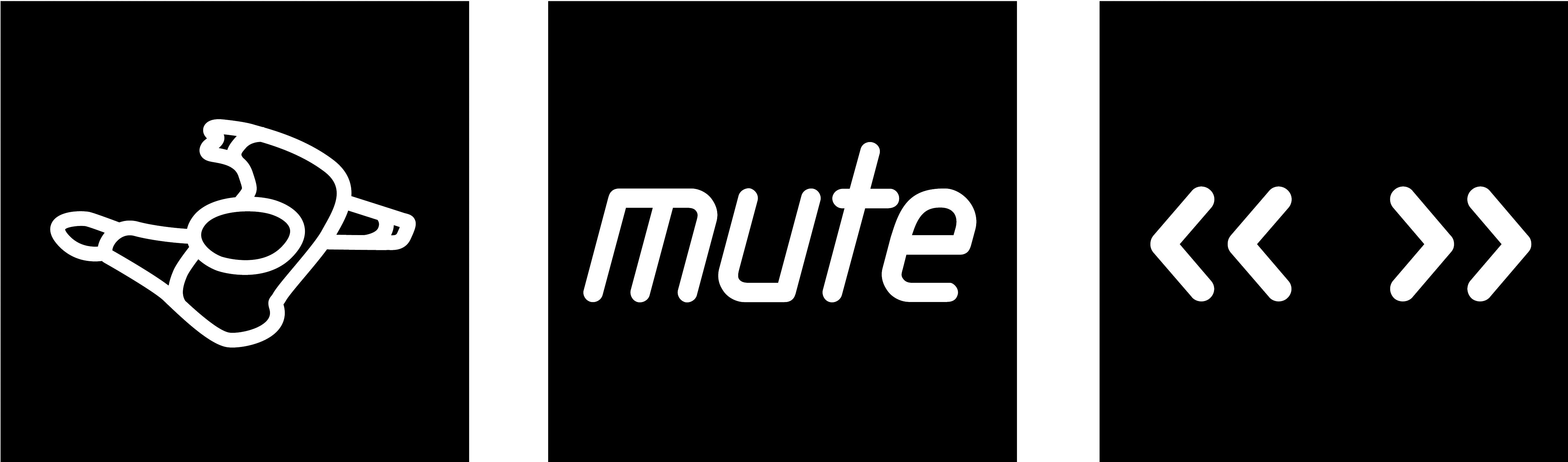 Mute main logo black